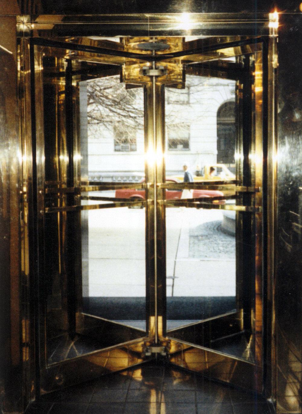 Polished Brass Revolving Door