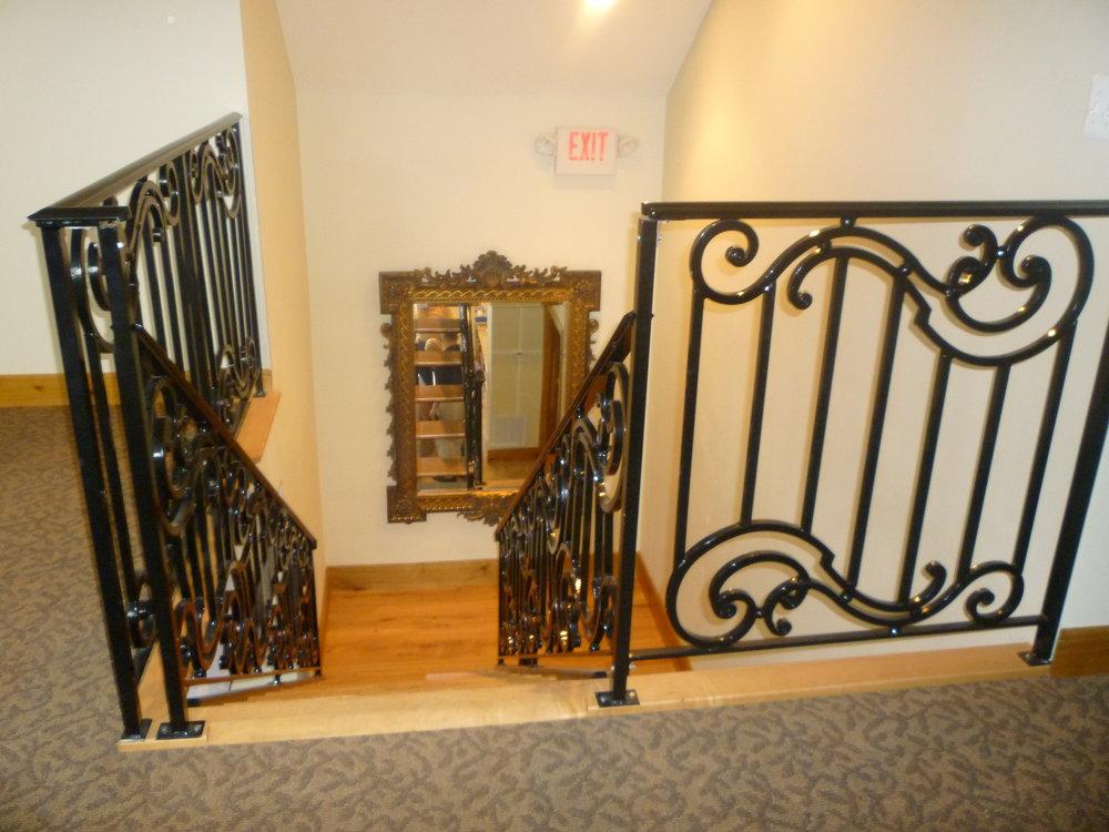 Ornamental Iron Rail + Staircase