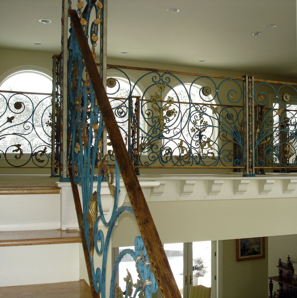 Iron Staircase-Proprietary Aged Finish
