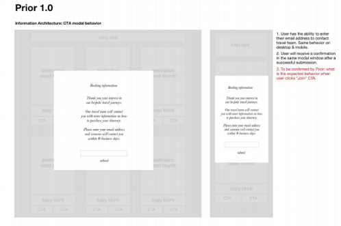 Using wireframes to build consensus on key functional decisions sped development time.
