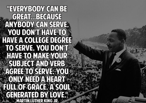 Thank you Dr. King for the legacy you gave us! #mlkday