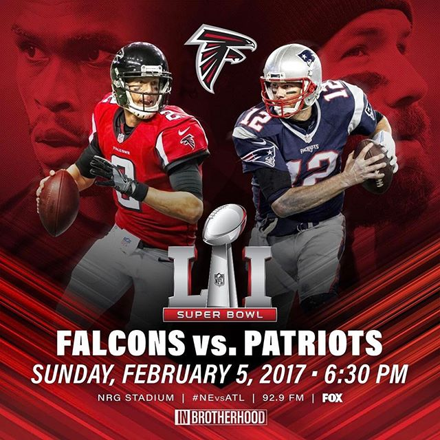 Today's the day! We're going to #RiseUp with our @AtlantaFalcons! #inbrotherhood