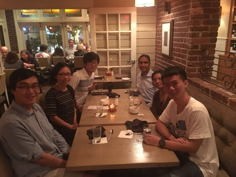 Celebrating Qiang's successful Masters Thesis Defense