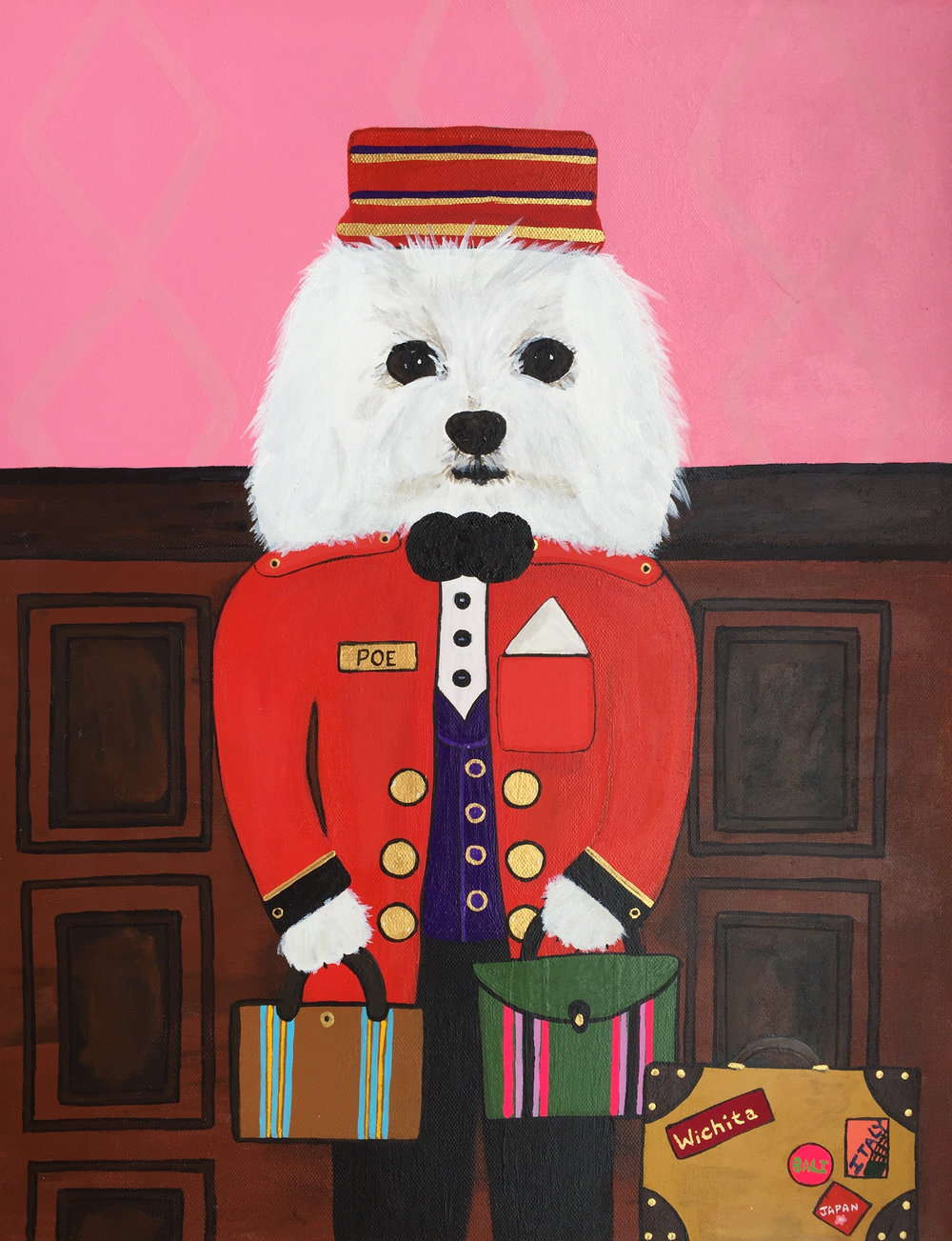 Poe Bell Boy - For Frances Valentine inspired by Katy's pup Poe.Available on francesvalentine.com