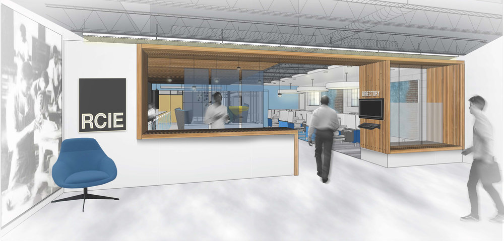 Entrance to Center, Rendering & Design by Office of Design