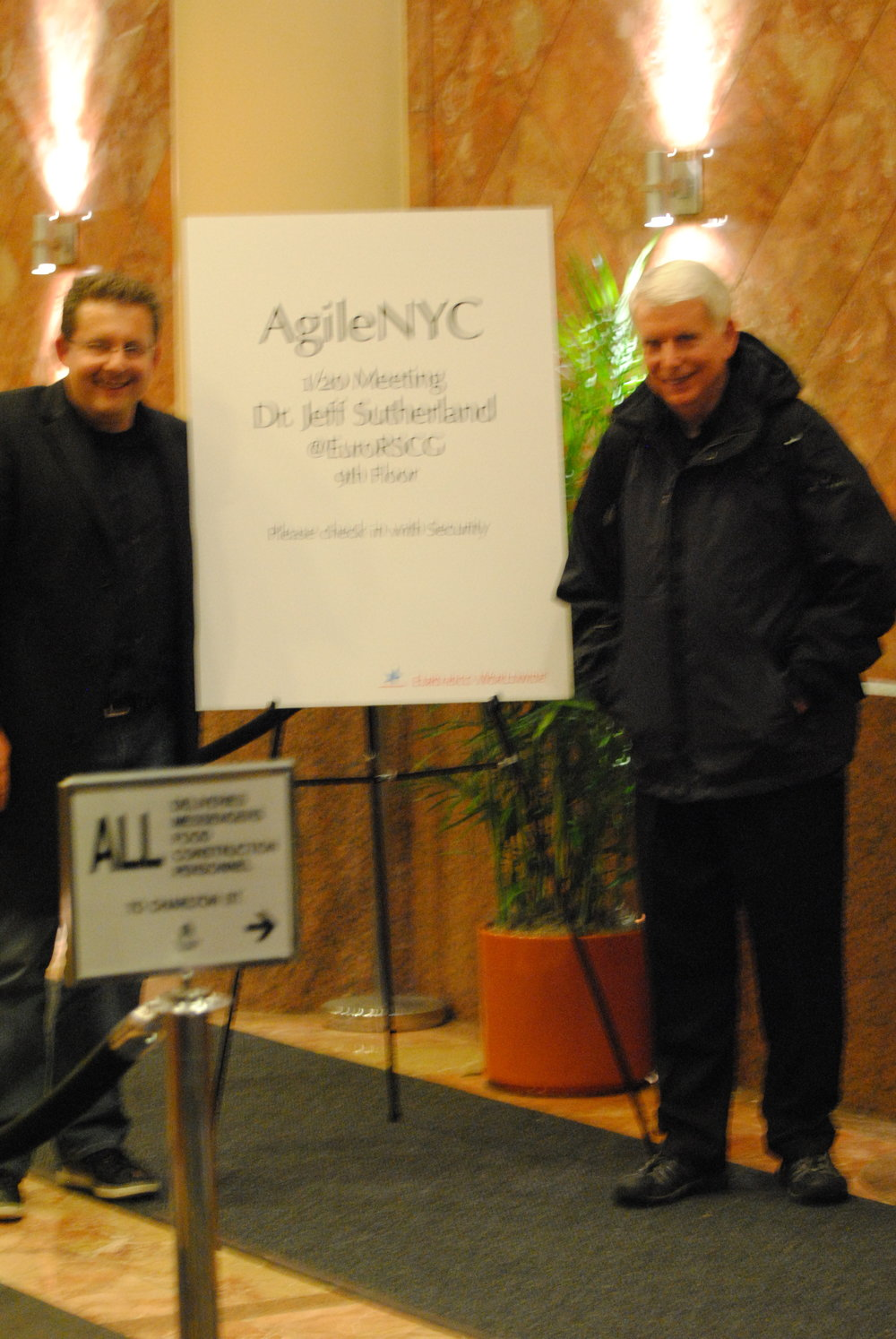 Joe Krebs with Jeff Sutherland in NYC in 2011