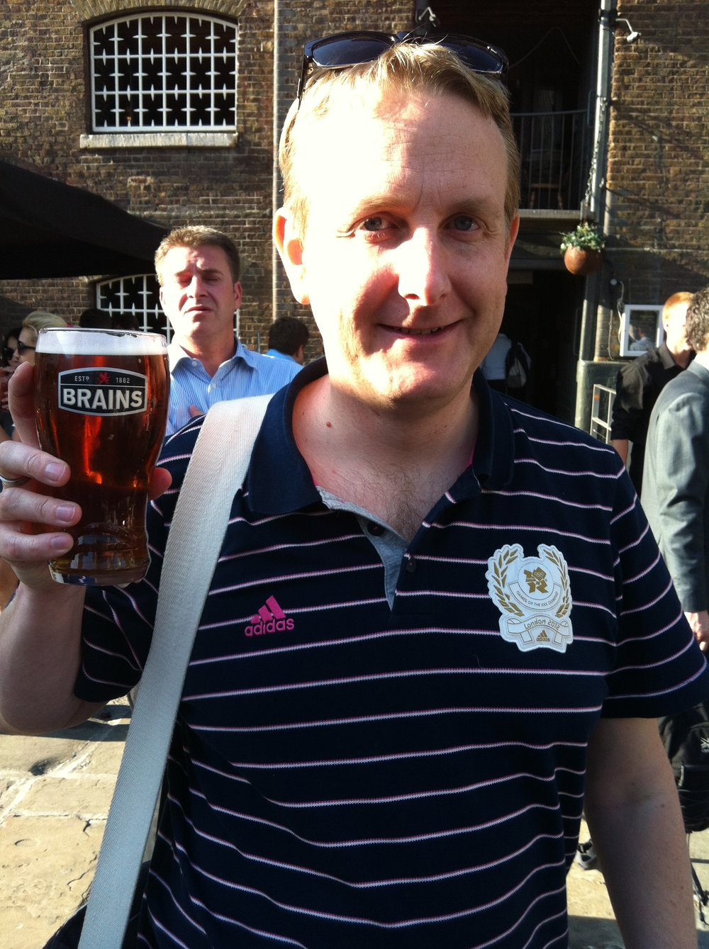 Enjoying a Pint with Karl Scotland in London