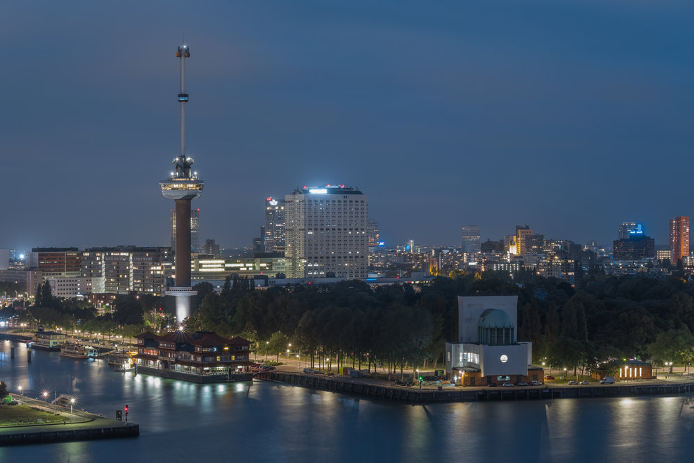 With over 600ft in height, the Euromast is the nation's tallest building and a city landmark.
