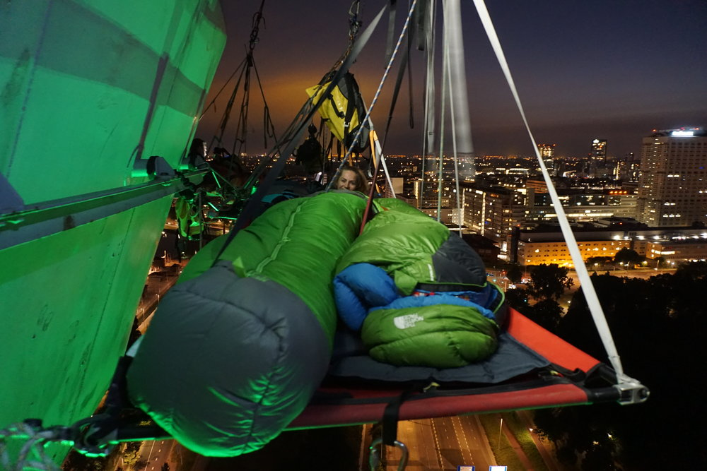 Guests enjoyed amazing views over the city of Rotterdam before trying to get some sleep.