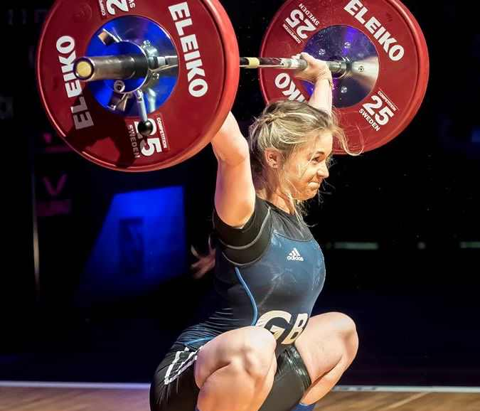 Fraer Morrow - British records in junior and U23 for the 53kg class at snatch, British Champion 2016 & 2017, English champion 2017, World juniors (9th) 2017, European juniors (7th) 2016, 2018 Commonwealth Games Athlete