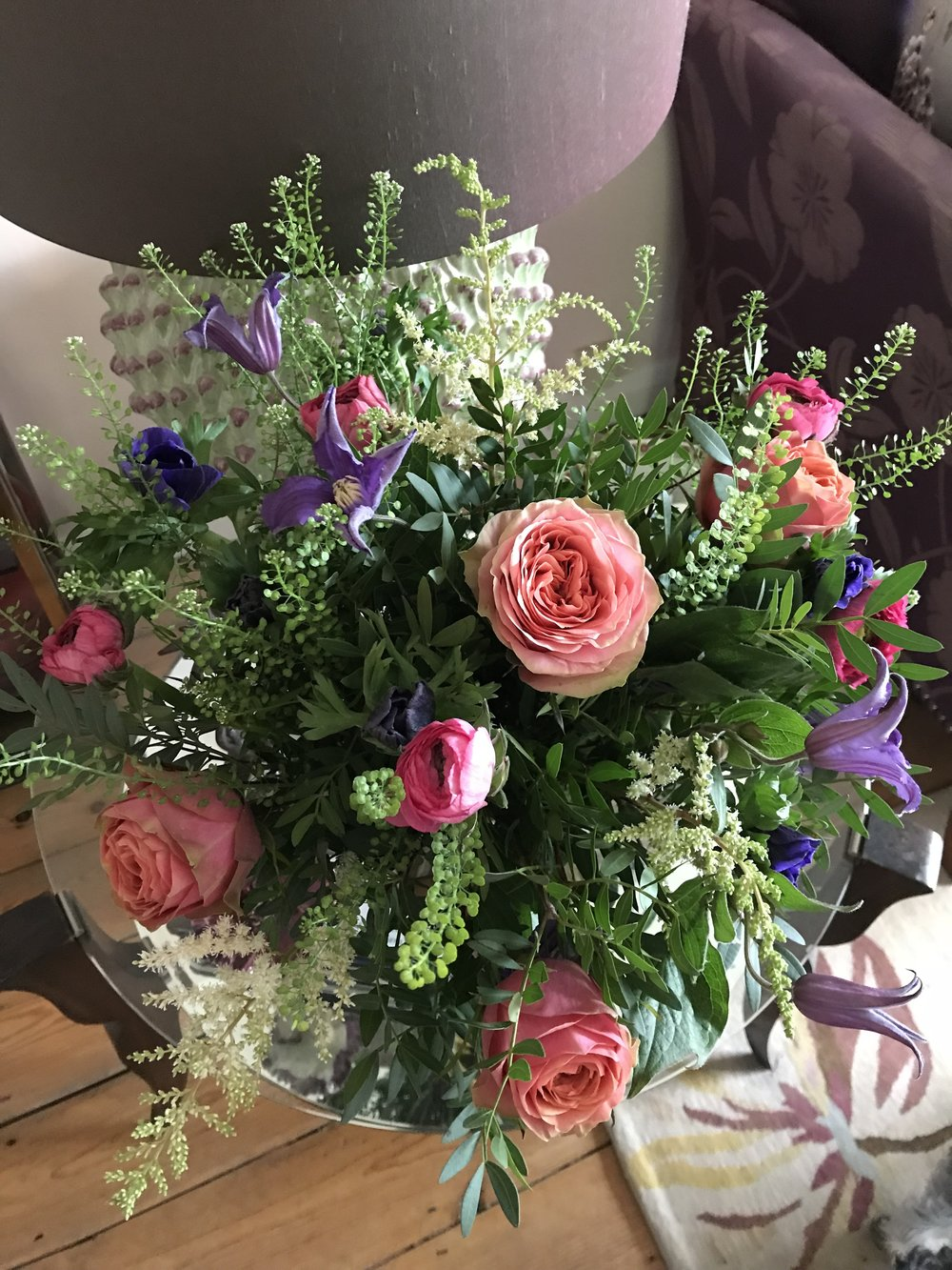Bouquet for Sally Dernie Interiors, January 2018