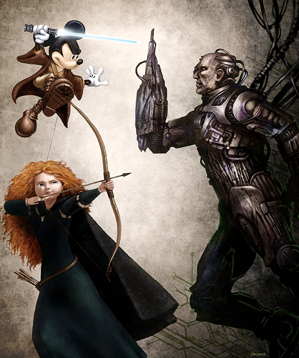 Jedi Mickey & Merida vs Borg