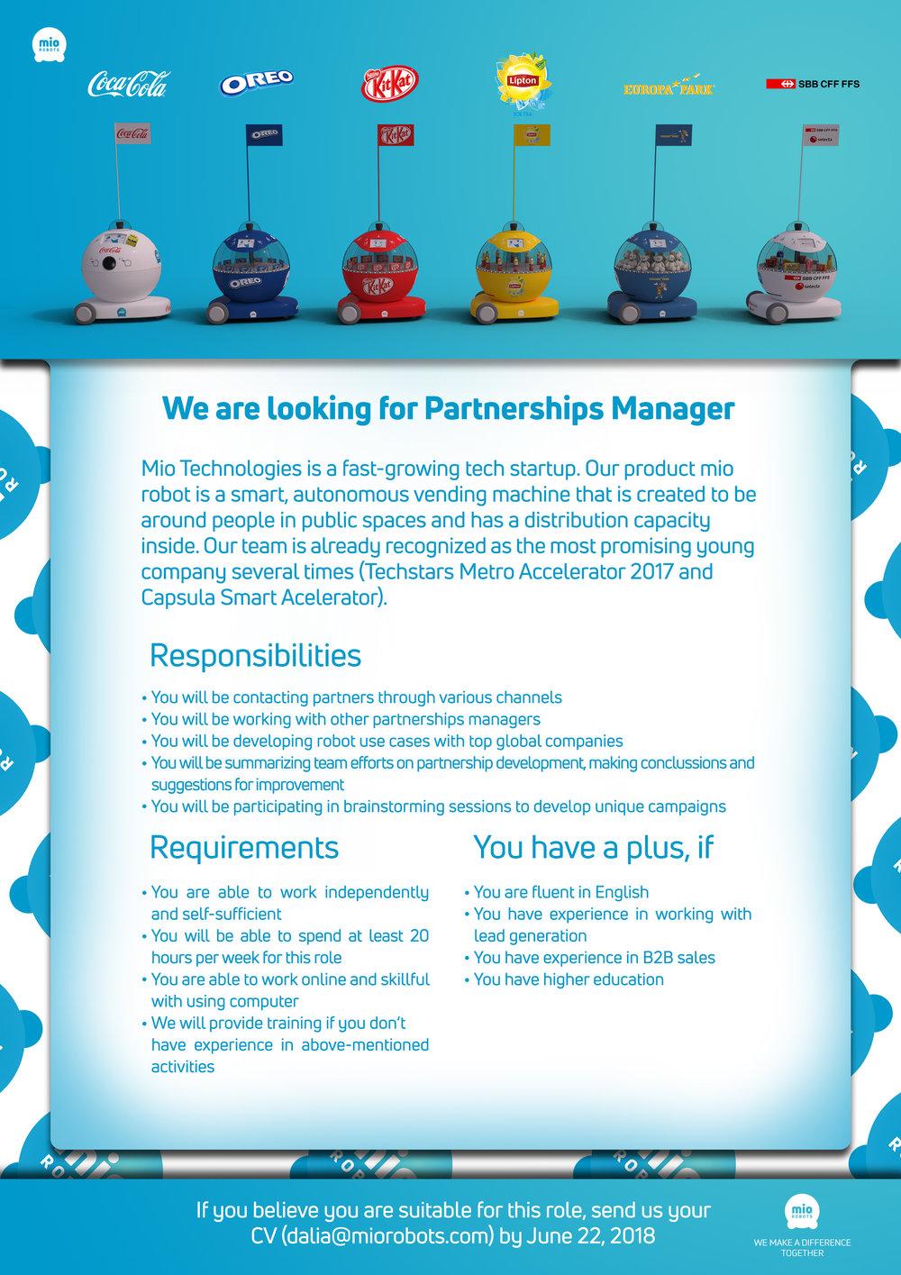 Partnerships Manager