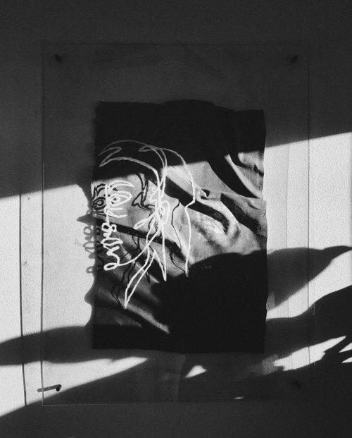 It's always you  Plexiglas, canvas, acrylic paint 36x48 2017