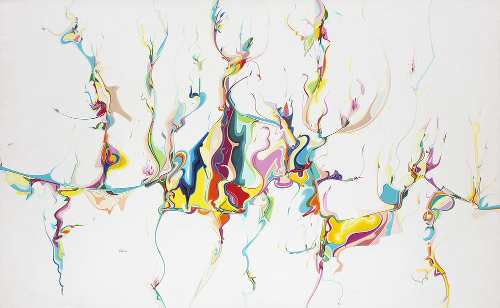 Alex Janvier ,  Untitled , 1986, acrylic on canvas, 165.1 × 266.7 cm. National Gallery of Canada, Ottawa (42867) © Alex Janvier. Photo: NGC