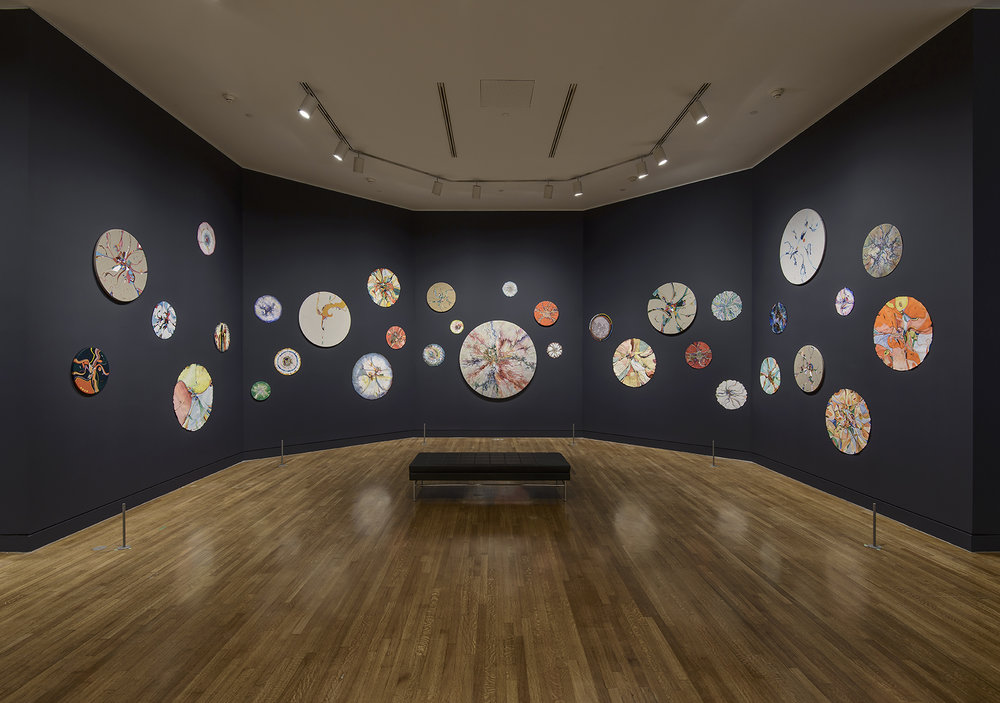 Installation view:  Alex Janvier  exhibition, presented at the National Gallery of Canada, Ottawa, 25 November 2016 to 17 April 2017 © Alex Janvier. Photo: NGC.