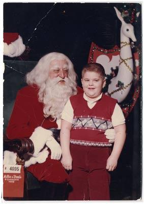 Charlie with Santa circa 1959
