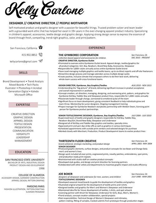 textile designer resume 30 great examples of creative cv resume