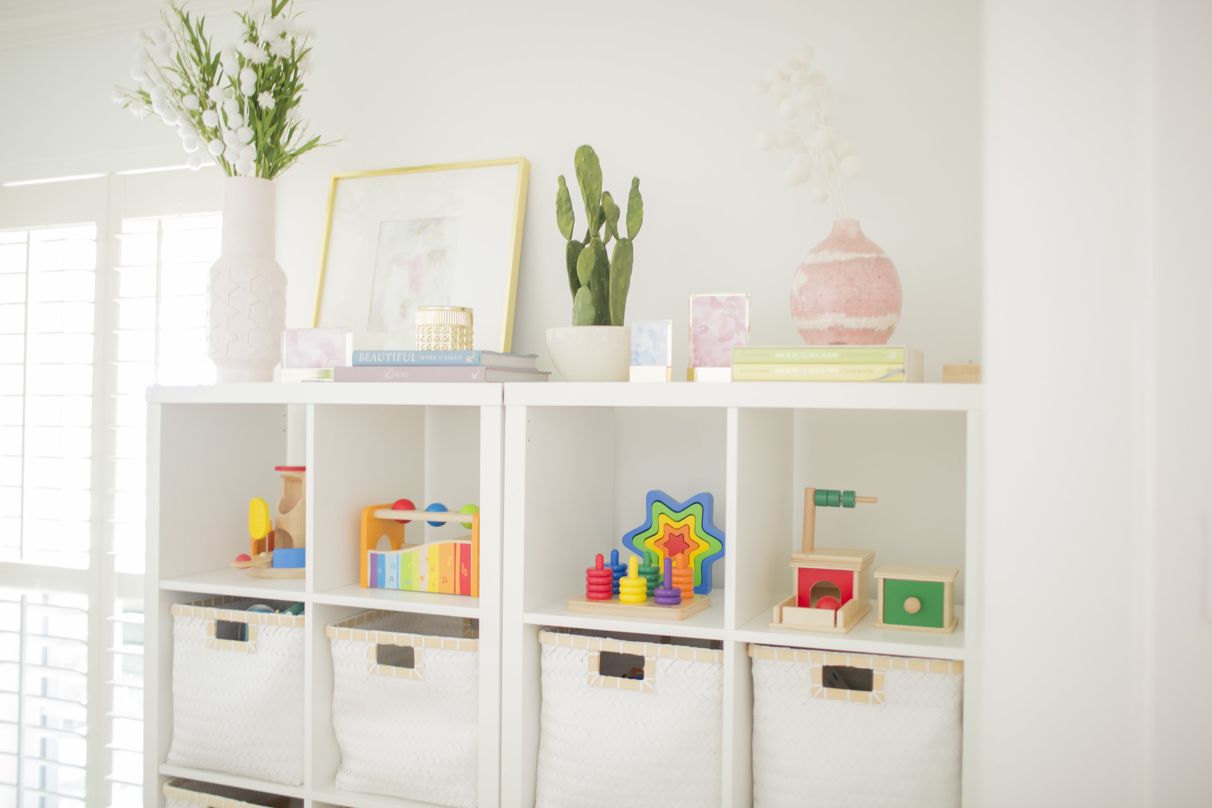 YWF playroom toy shelf