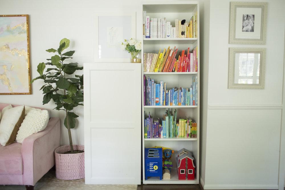 YWF playroom bookshelf