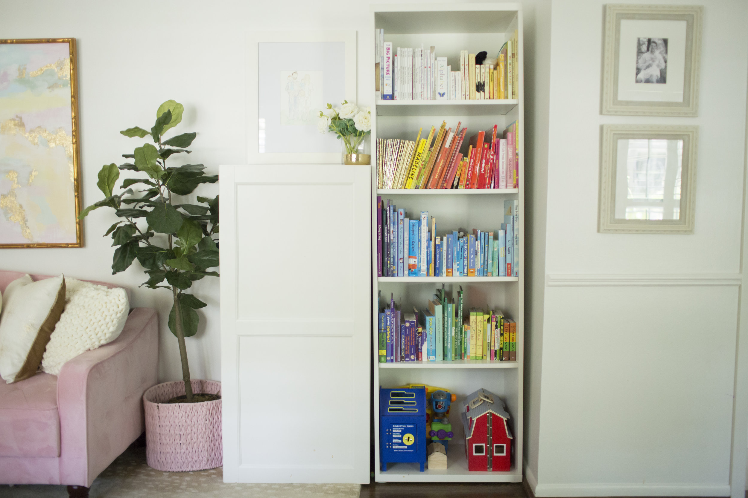 YWF playroom bookshelf