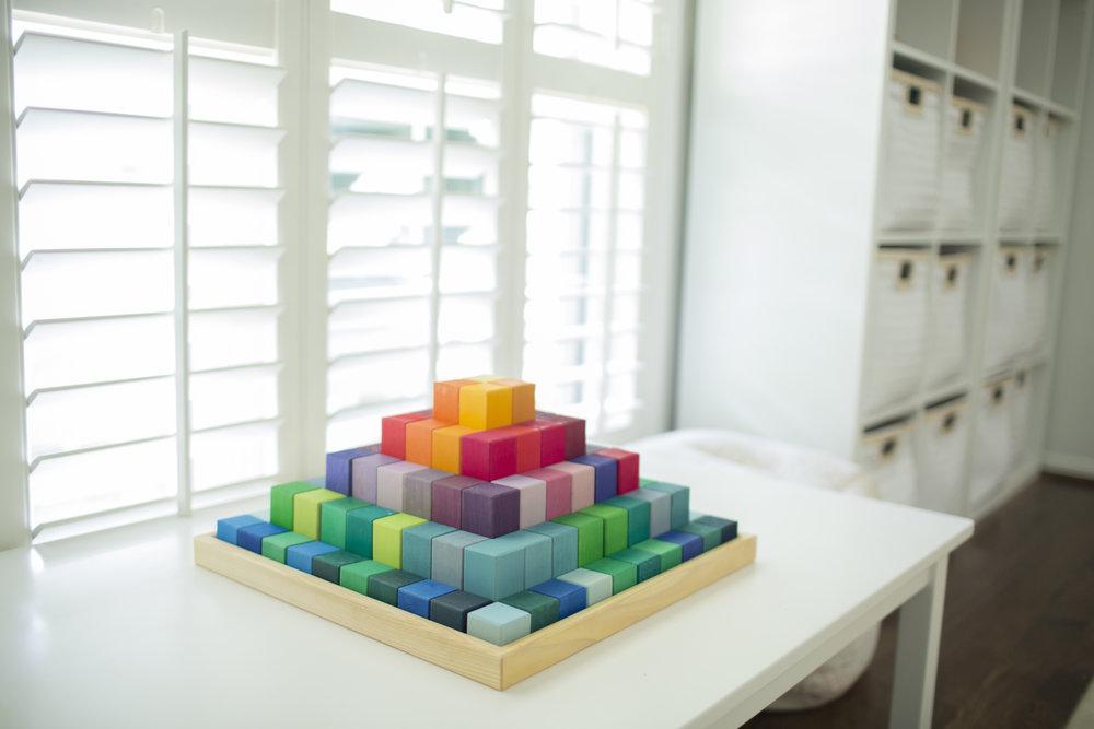 YWF playroom Grimms pyramid