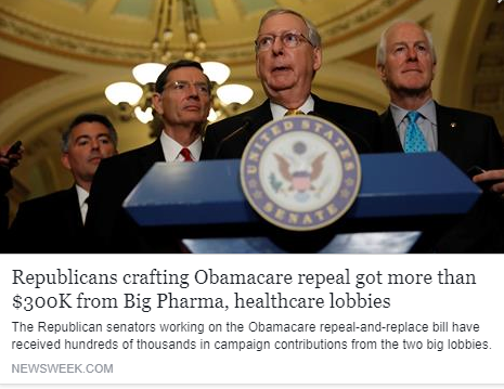 Newsweek - SENATE HEALTHCARE BILL: BIG PHARMA, INSURANCE LOBBIES RESPONSIBLE FOR SECRECY?