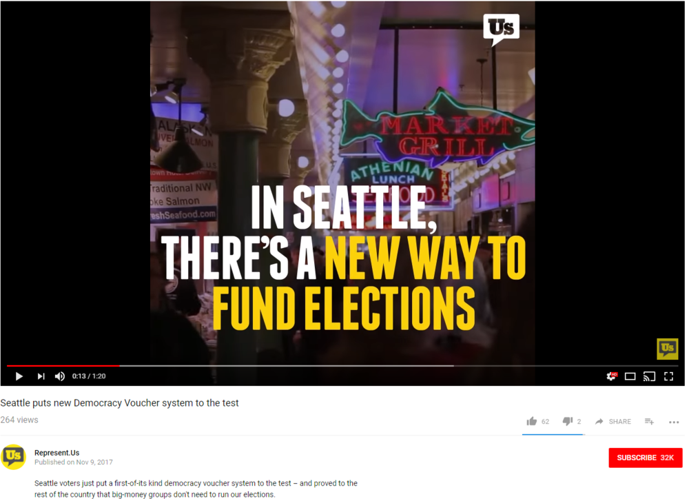 Represent.Us - Seattle puts new Democracy Voucher system to the test