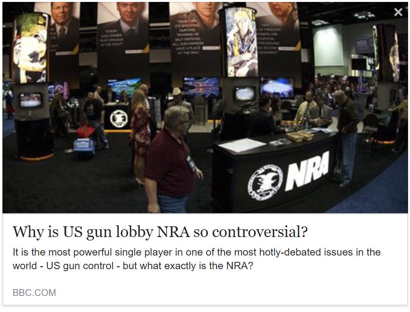 BBC - US gun control: What is the NRA and why is it so powerful?