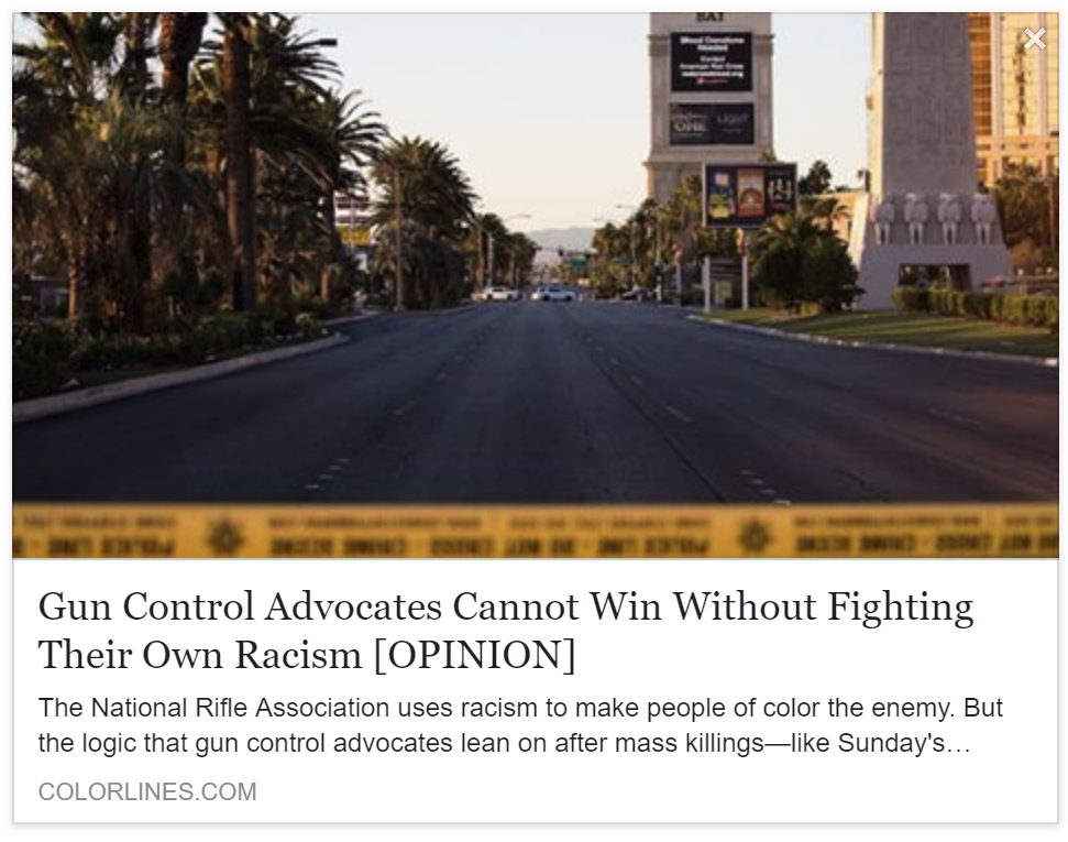 COLORLINES - Gun Control Advocates Cannot Win Without Fighting Their Own Racism [OPINION]