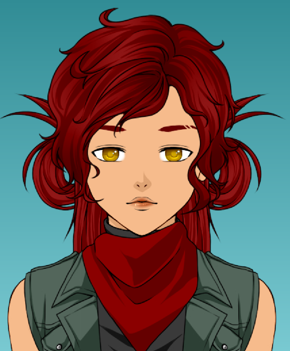 I can't draw but I wanted to get an idea for what I wanted Sibyl to look like. I used Rinmaru's  anime avatar creator . This isn't her final appearance - my friend  Kaz  will be doing some of the art!