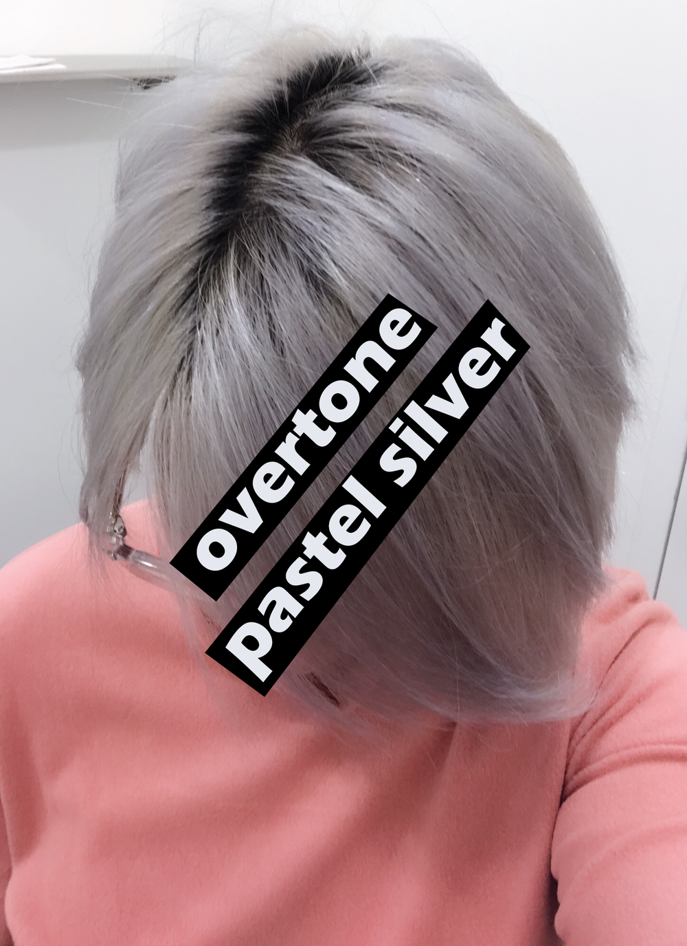 Overtone is very pigmented - I usually use the pastel silver shampoo after shimmer lights to get the silver in on top of the white