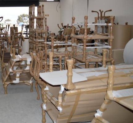 Furniture pack and ready for shipment to Sun City