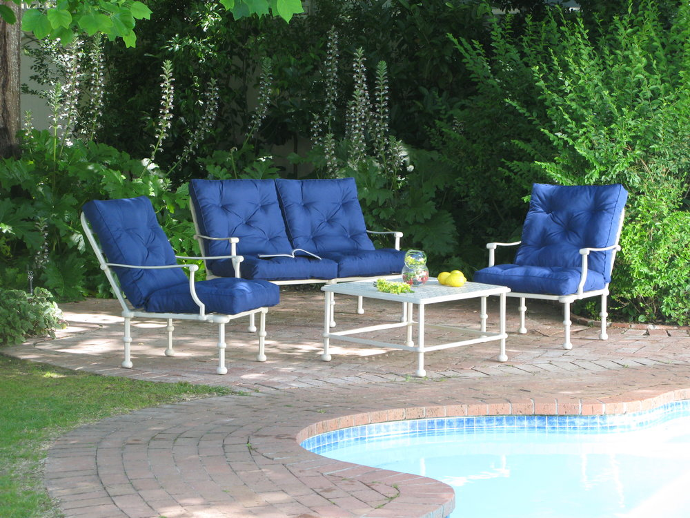Majorca 1 & 2 seater lounger chairs with 50cm side table