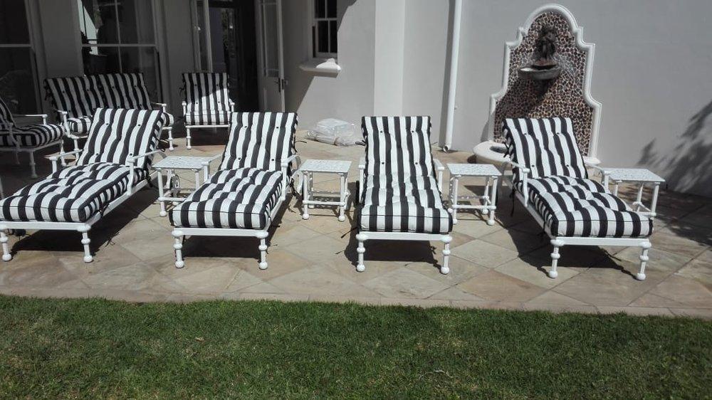 Majorca sunloungers with Majorca 40cm side tables