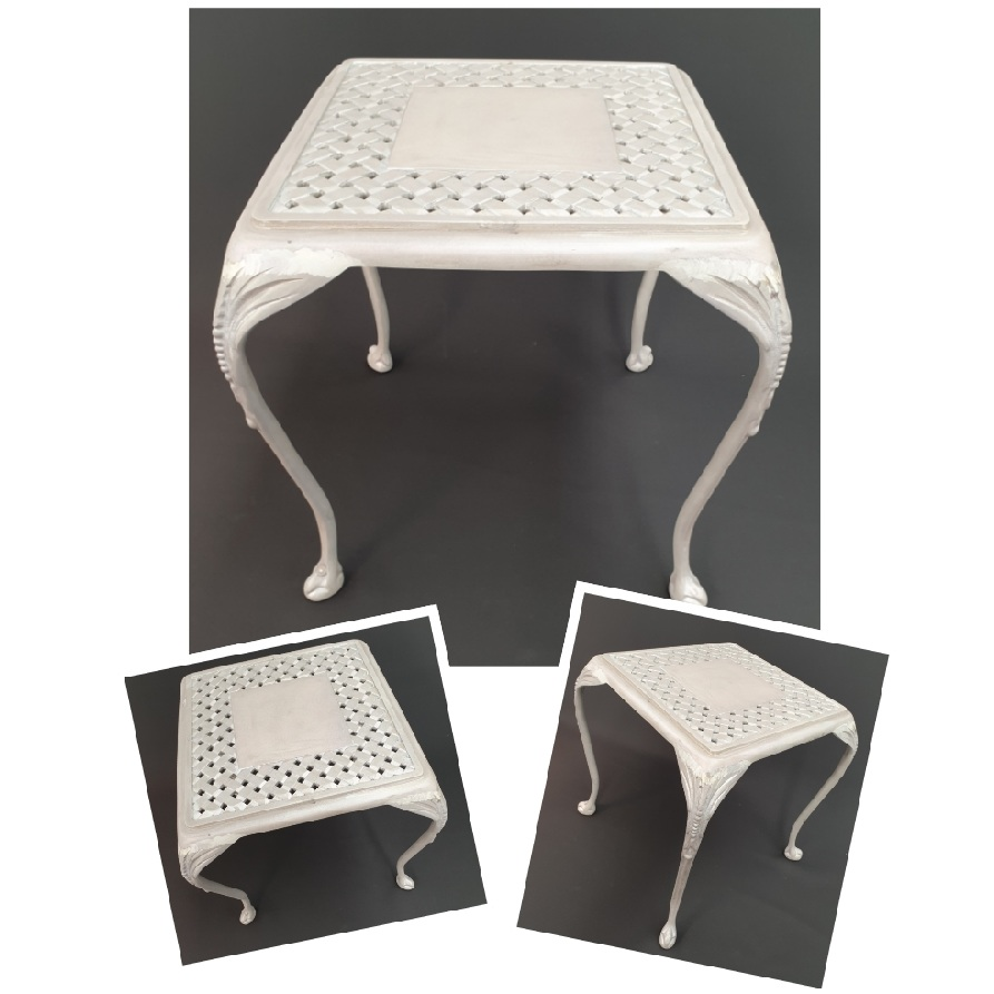 *NEW* St Tropez 40cm side table with Verona top