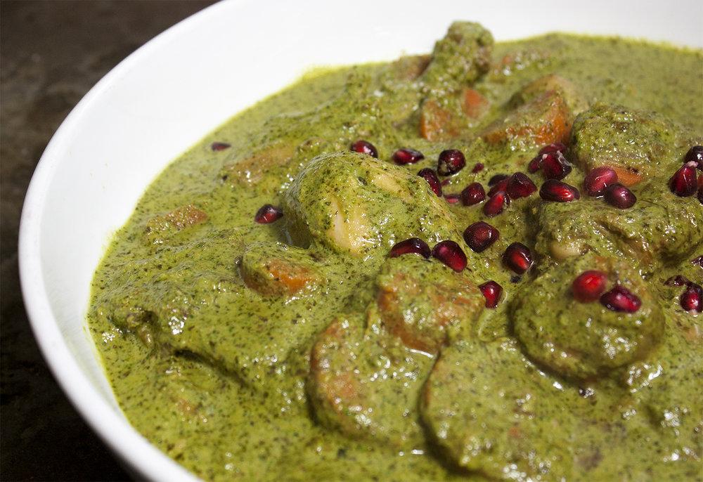 green masala chicken -
