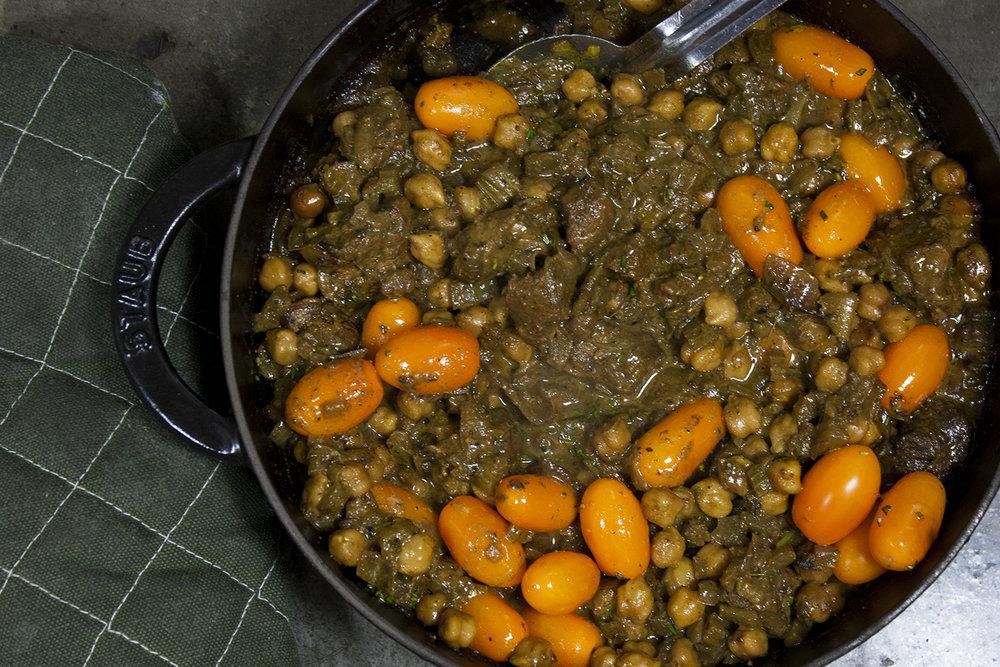 lamb garbanzo stew -