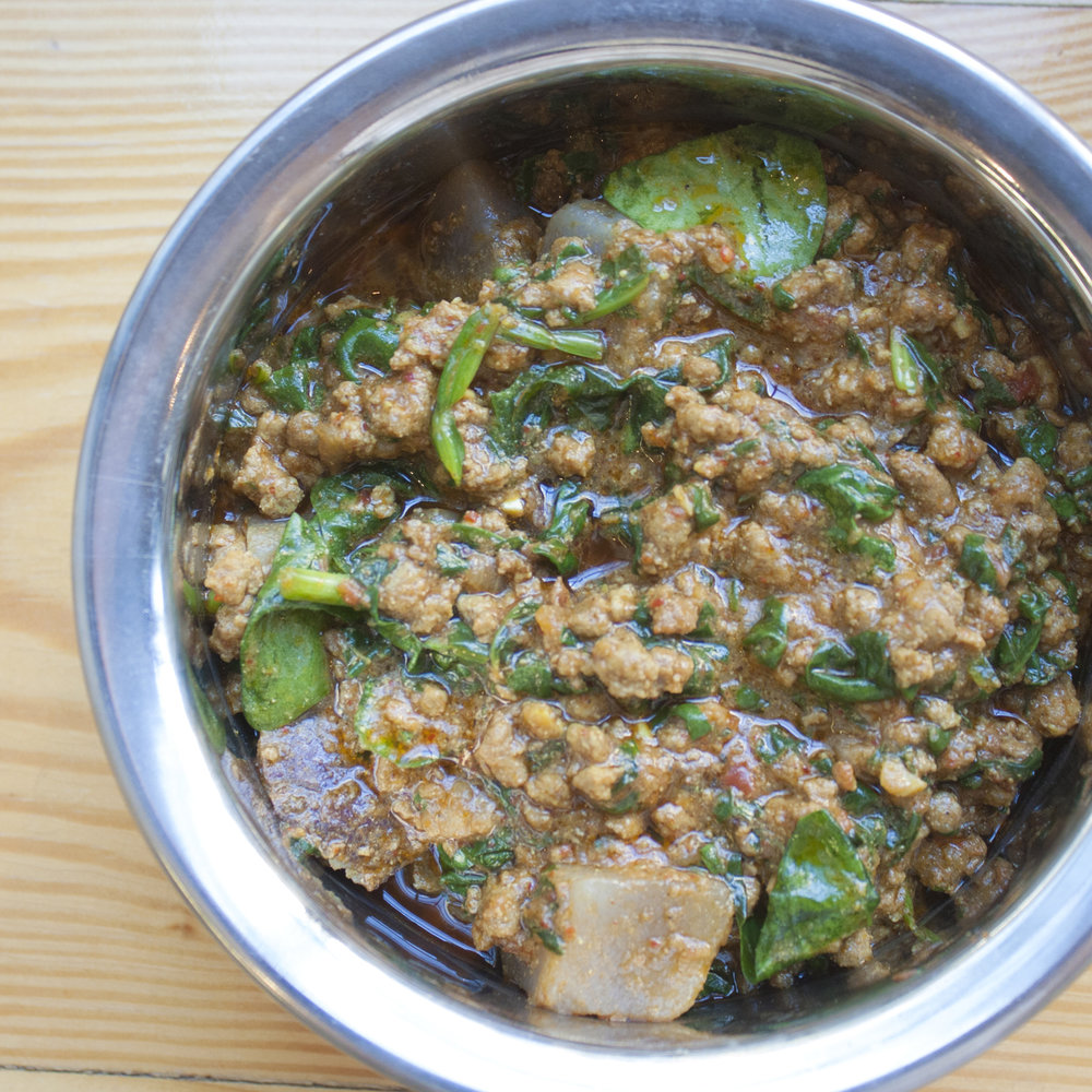 keema with spinach -