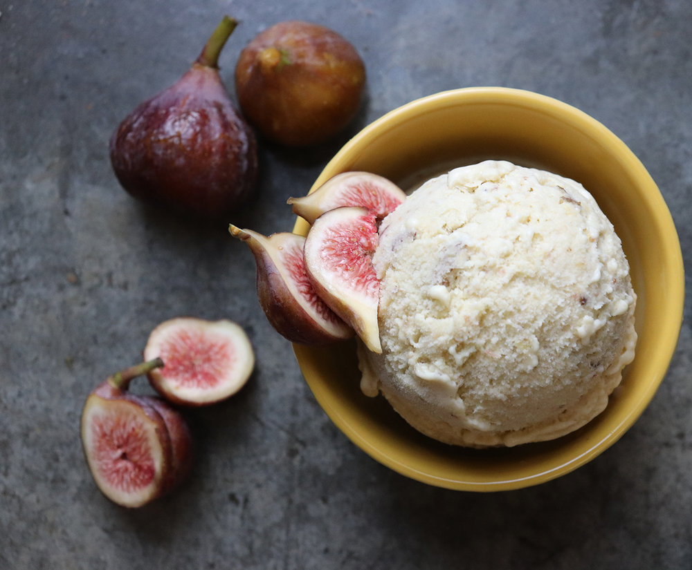 fresh fig ice cream -
