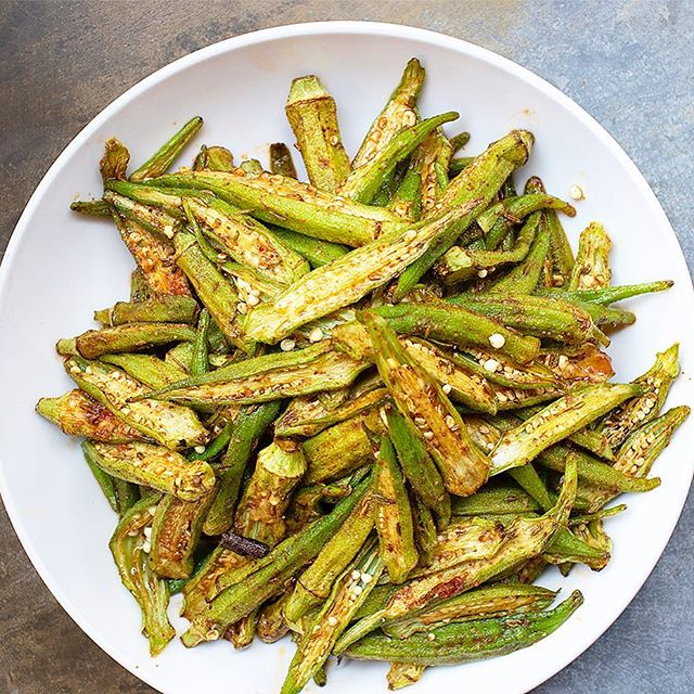 Crispy Okra with Fennel Masala perfect snack for Monday afternoon. Yes, our kitchen is open all day every day!