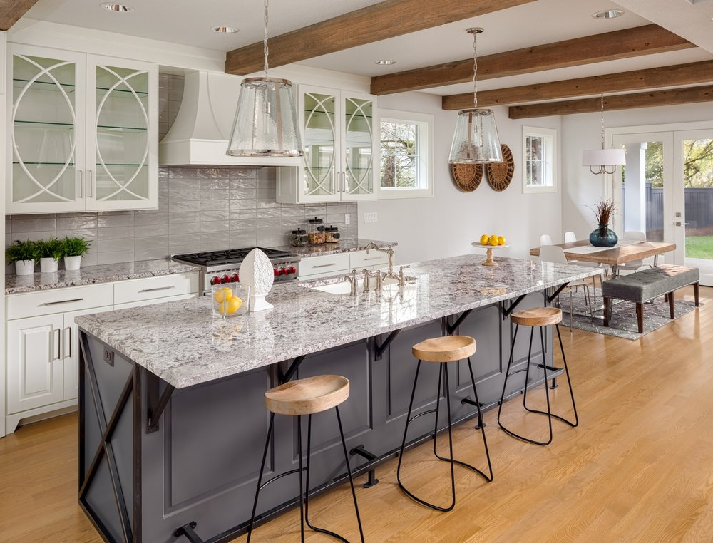 FUNCTIONAL KITCHEN DESIGN - Everyone knows the kitchen is the heart of the home, and often what sells the house! When prospective buyers inspect your property, their first stop is typically the kitchen. Today's home buyers are discerning and if your property doesn't stand out it could sit on the market too long, causing you to lose money. Prospective buyers look for attractive and highly functional kitchens with ample countertop and storage space. We'll help you breathe new life into an old kitchen space by pulling all the details together.