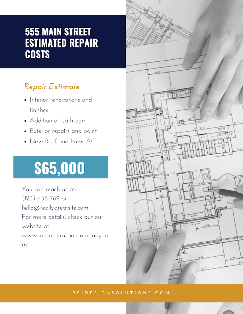 Property Analysis Report Design Solutions For Real Estate Investors