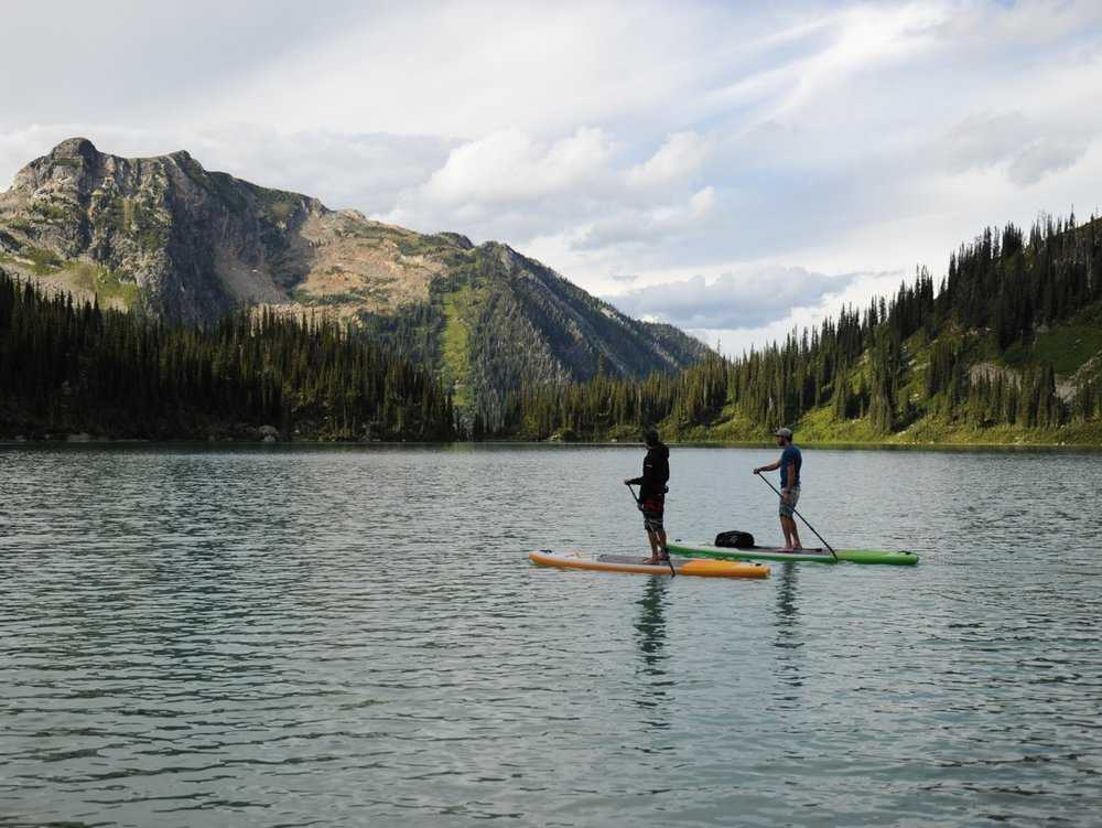 Heli-SUP   - Take a breathtaking flight into the majestic Cariboo Mountains and enjoy a casual day of paddling and exploring alpine lakes and waterfalls with our professionally certified guide, Bodie Shandro.For booking Information:http://www.paddlesurfit.com/heli-sup-adventure.html