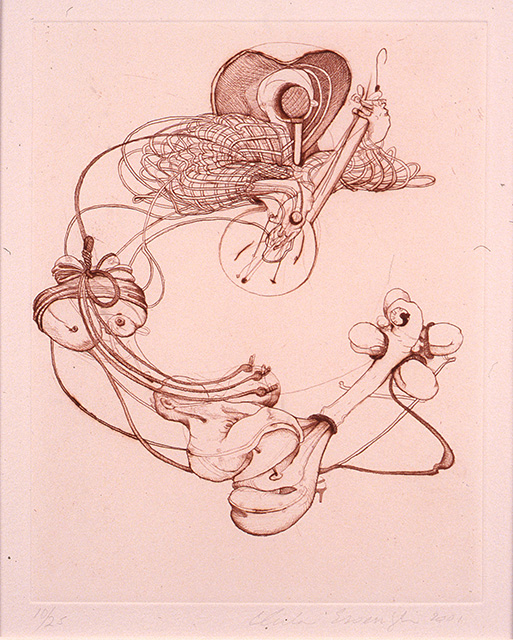 Country Western, 2001, etching on paper, 8 7/8 x 6 7/8 inches