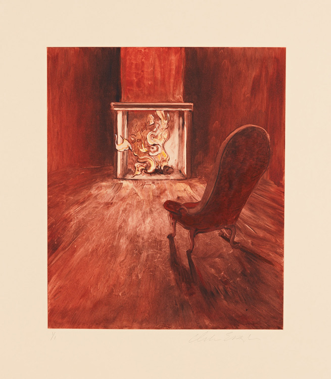 Velvet Chair, 2012, Painted monotype printed from a steel matrix, image size: 13 9/16 x 11 7/16