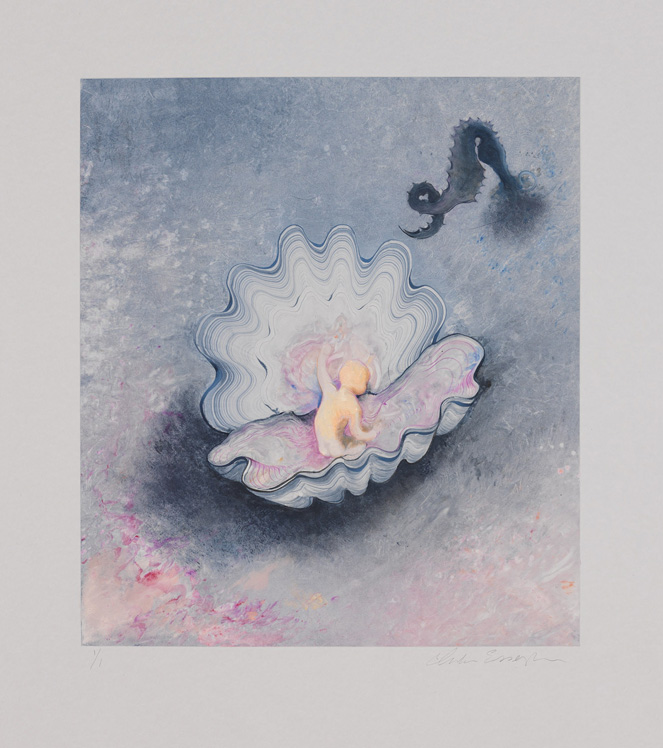 Little Pearl, 2012, Painted monotype printed from a steel matrix, image size: 17 5/8 x 15 1/2 inches