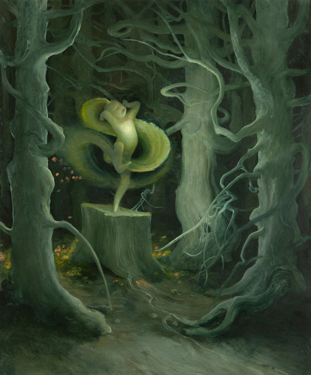 Tree Spirit, 2011, Oil on canvas, 36 x 30 inches