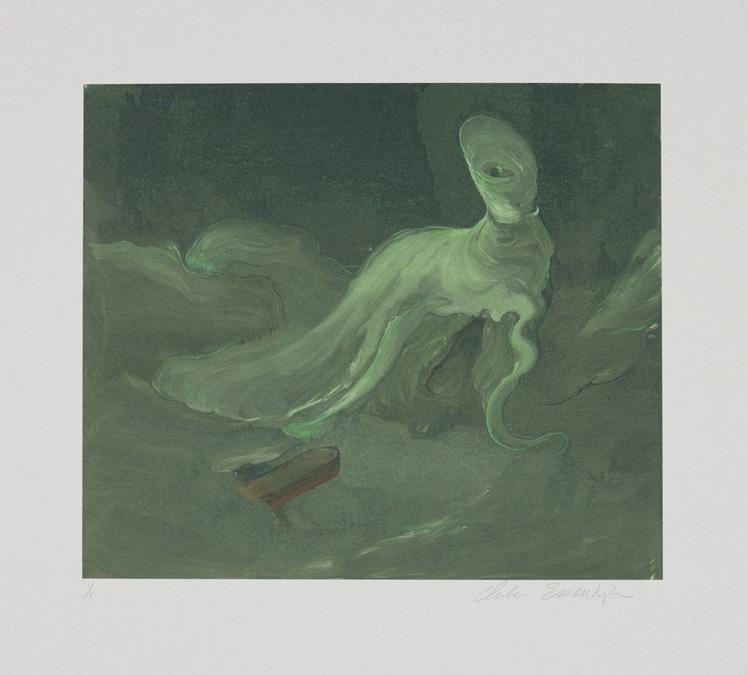 Sea Monster, Monotype, 2010