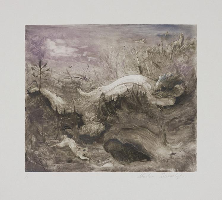 Sleeping Faun, Monotype, 2010